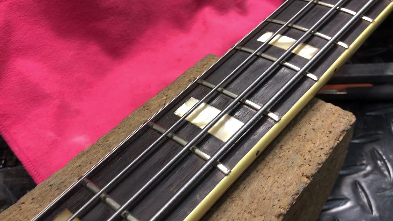 【川越のT.S.G.楽器店】Fender Jazz Bass 70年代ビンテージベースのフレット交換その⑦「完成」