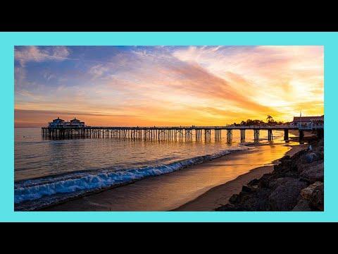 The beautiful Malibu Pier on a sunny day, California (USA)