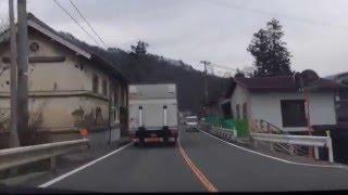 長野県安曇野市明科七貴の「木戸」の信号から、道の駅長野市大岡特産センターまでをドライブ。