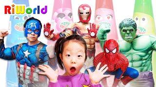 Superhero dance story for children 아빠가 마법의 쥬스먹고 슈퍼히어로가 되었어요.