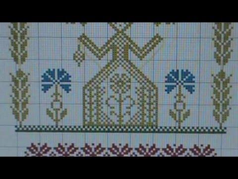 Вышивка крестом окончание работы