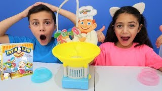 Fryin Flyin Donuts Game Challenge! Family Fun Video