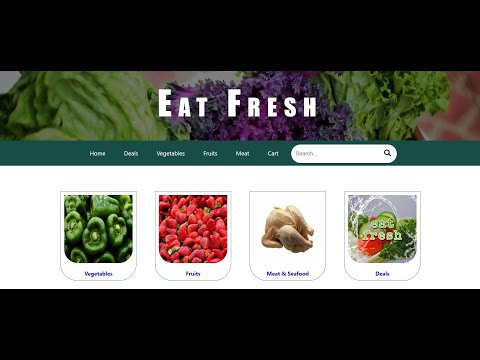 ONLINE GROCERY STORE WEB TEMPLATE USING HTML, CSS WITH STICKY NAVIGATION MENU.