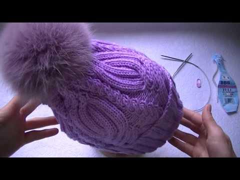 Узоры спицами схемы для шапок косы