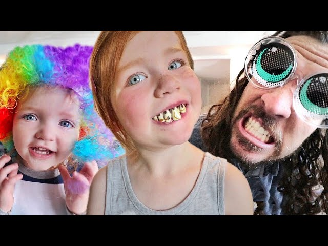 FAMiLY COSTUME SHOW!!  Niko & Adley do a pretend play makeover! kids spin to choose our random day!