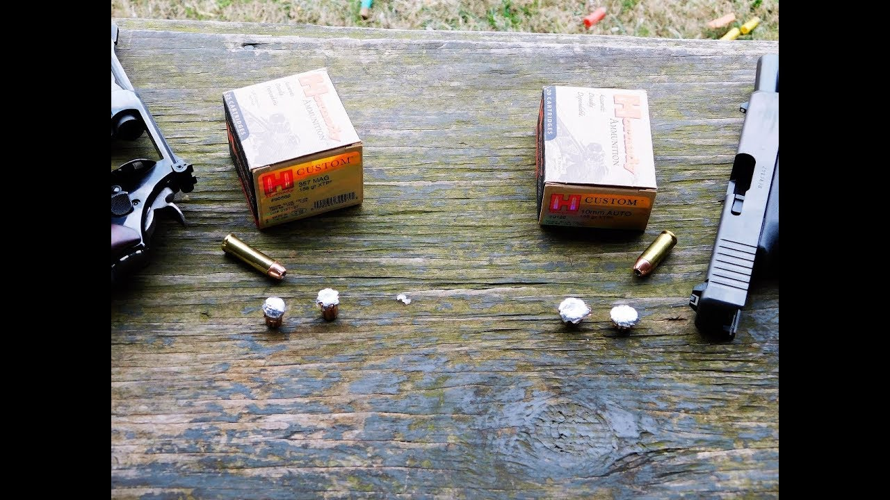 10mm Auto vs  357 Magnum Ammunition : Ballistic Test Results ~VIDEO