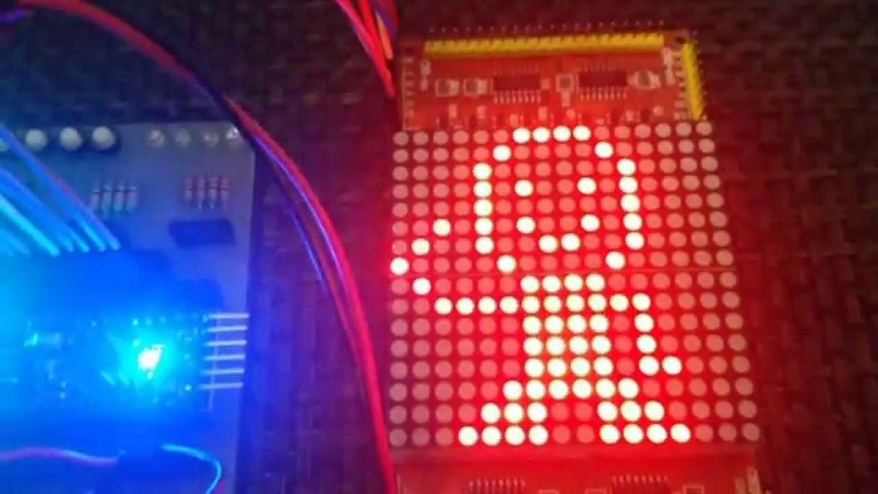 LibStock - Arduino Mini 16x16 Dot Matrix Display Animation