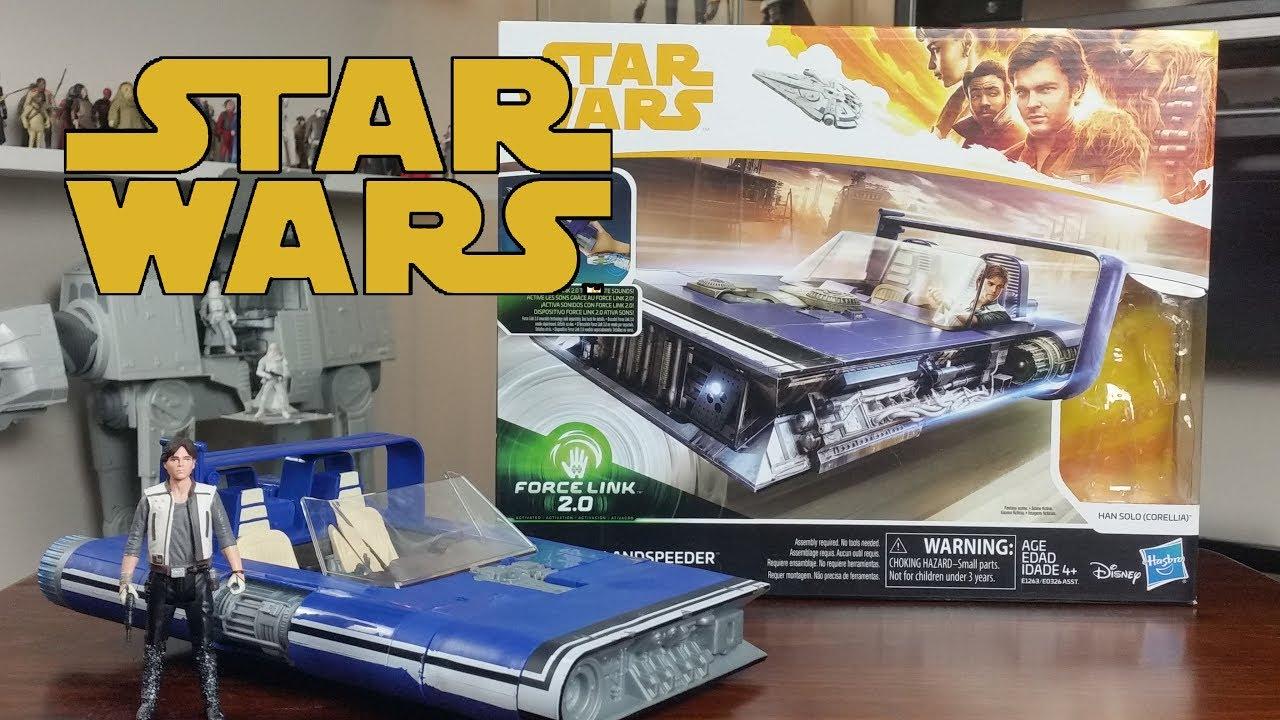 Corellia Star Wars Force Link 2.0 Landspeeder /& Han Solo
