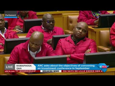 Ramaphosa answers questions in Parliament