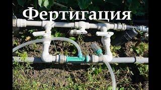 Фертигация - внесение удобрений с поливом