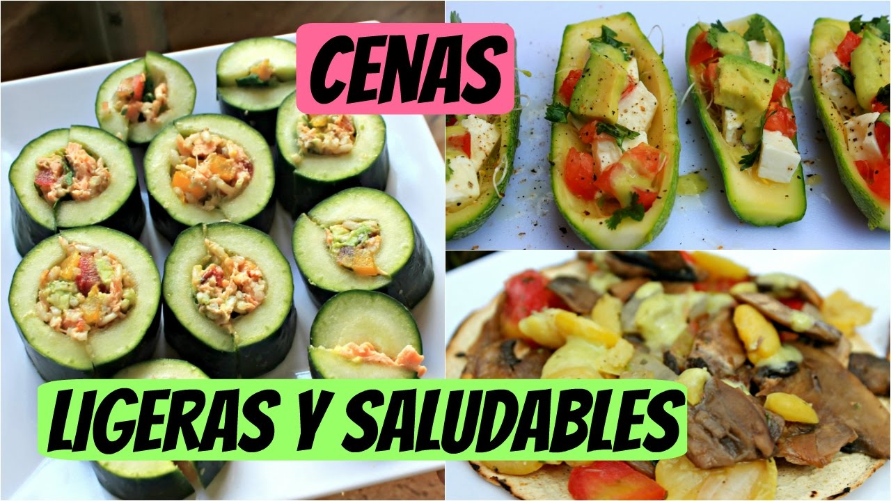 Cenas ligeras y saludables aptas para diabticos  YouTube