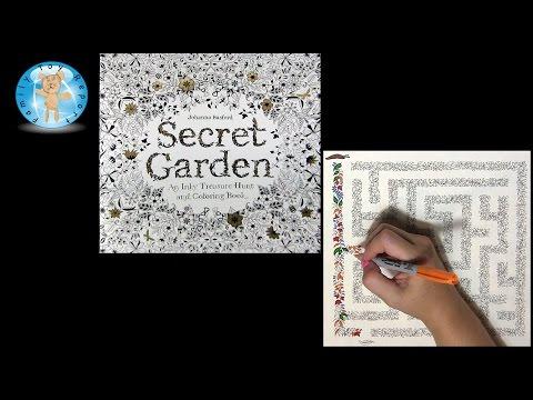 Secret Garden By Johanna Basford Adult Coloring Book Maze