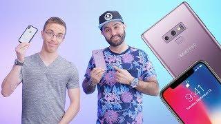 Galaxy Note 9 vs iPhone X w/ Austin Evans!