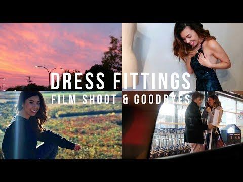 VLOG 002 | DRESS FITTINGS, FILM SHOOT & GOODBYES