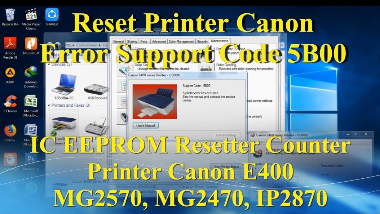 Canon mb2700 support code 5b00