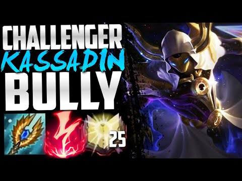 Bullying Challenger players with Kassadin...
