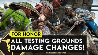For Honor: ALL Testing Grounds NEW Damage Numbers! - For Honor Testing Grounds Major Overhaul!