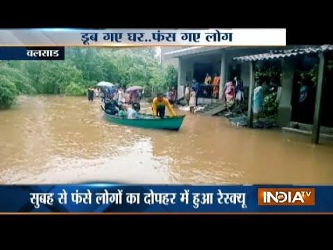 Gujarat: Heavy rains wreak havoc in Valsad, 80 rescued from flooded area