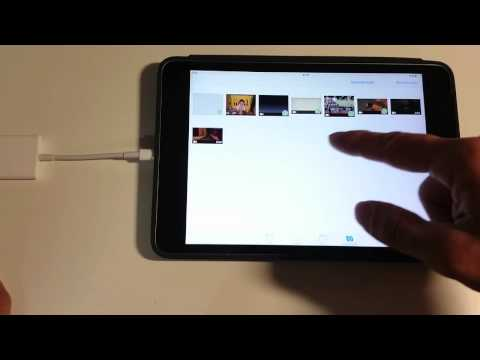 Apple iPad video file transfer using Lightning to SD card reader