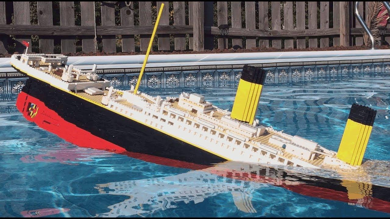 Lego Titanic Sinking 【𝐇𝐔𝐆𝐄 𝟕 𝐅𝐎𝐎𝐓 𝐌𝐎𝐃𝐄𝐋】 Youtube