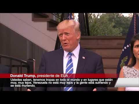 Trump advierte que no descarta la 'opción militar' en Venezuela