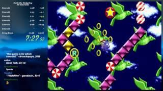 Sonic the Hedgehog All Emeralds speedrun in 21:30