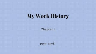 Gambar cover My Work History - Chapter 2
