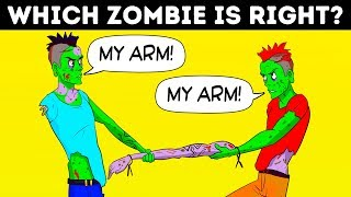 🧟♂️ ZOMBIE RIDDLES AND MIND-BOGGLING OPTICAL ILLUSIONS 😵