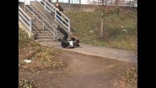 16 stair rail bail on a scooter
