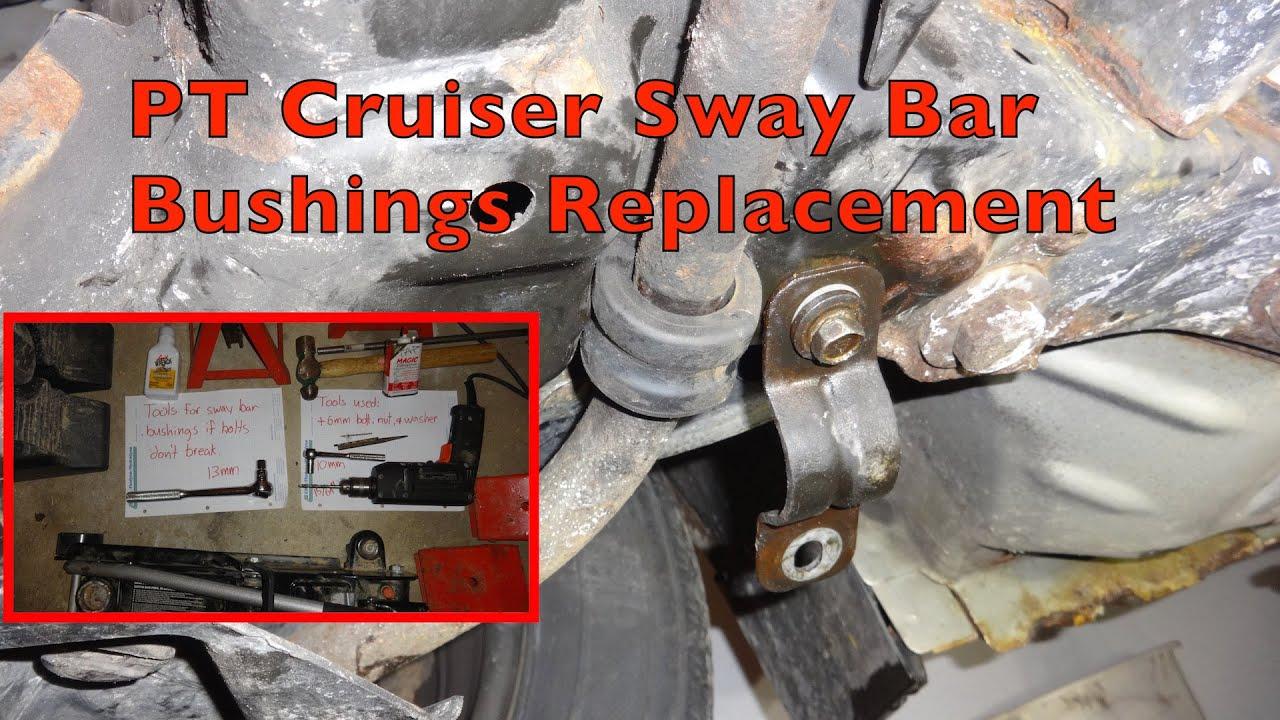 chrysler pt cruiser front end diagram pt cruiser sway bar bushings replacement youtube  pt cruiser sway bar bushings