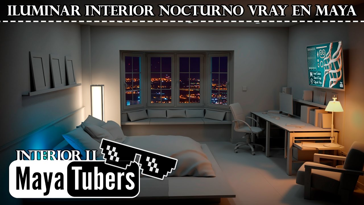 types of interior lighting. VRay Interior Lighting In Autodesk Maya Night Light? With 6 Types - Tutorial MayaTubers Of M