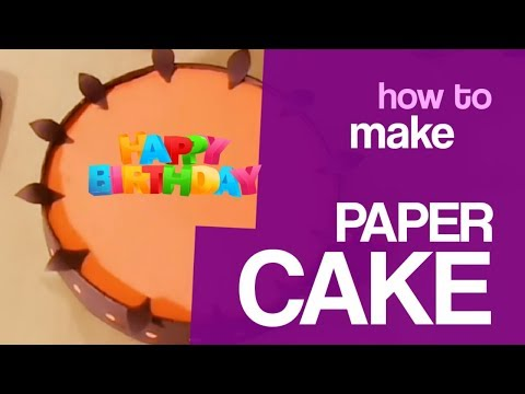 Origami Cake | DIY - How To Make Cake With Paper | Paper Cake Tutorial | 2019