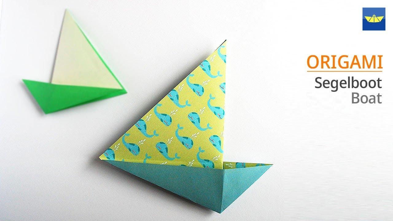 Origami Boot Segelboot Schiff Basteln Mit Papier Mit Kindern Einfach Basteln Ideen 보트 종이접기