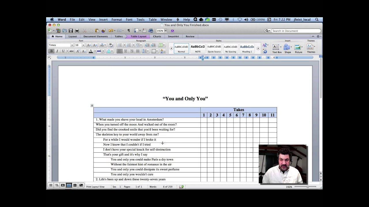 Creating Tables In MS Word Making a Lyric Sheet YouTube – How to Make a Sign in Sheet in Word