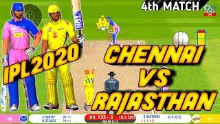 IPL 2020-CHENNAI SUPER KINGS VS RAJASTHAN ROYALS 4TH MATCH HIGHLIGHTS IN Real Cricket™ 20 |CSK VS RR