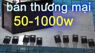 Hướng dẫn làm kích điện 12v lên 220v biến áp sắt chạy quạt, inverter 12v to 220v 1000w   BtH