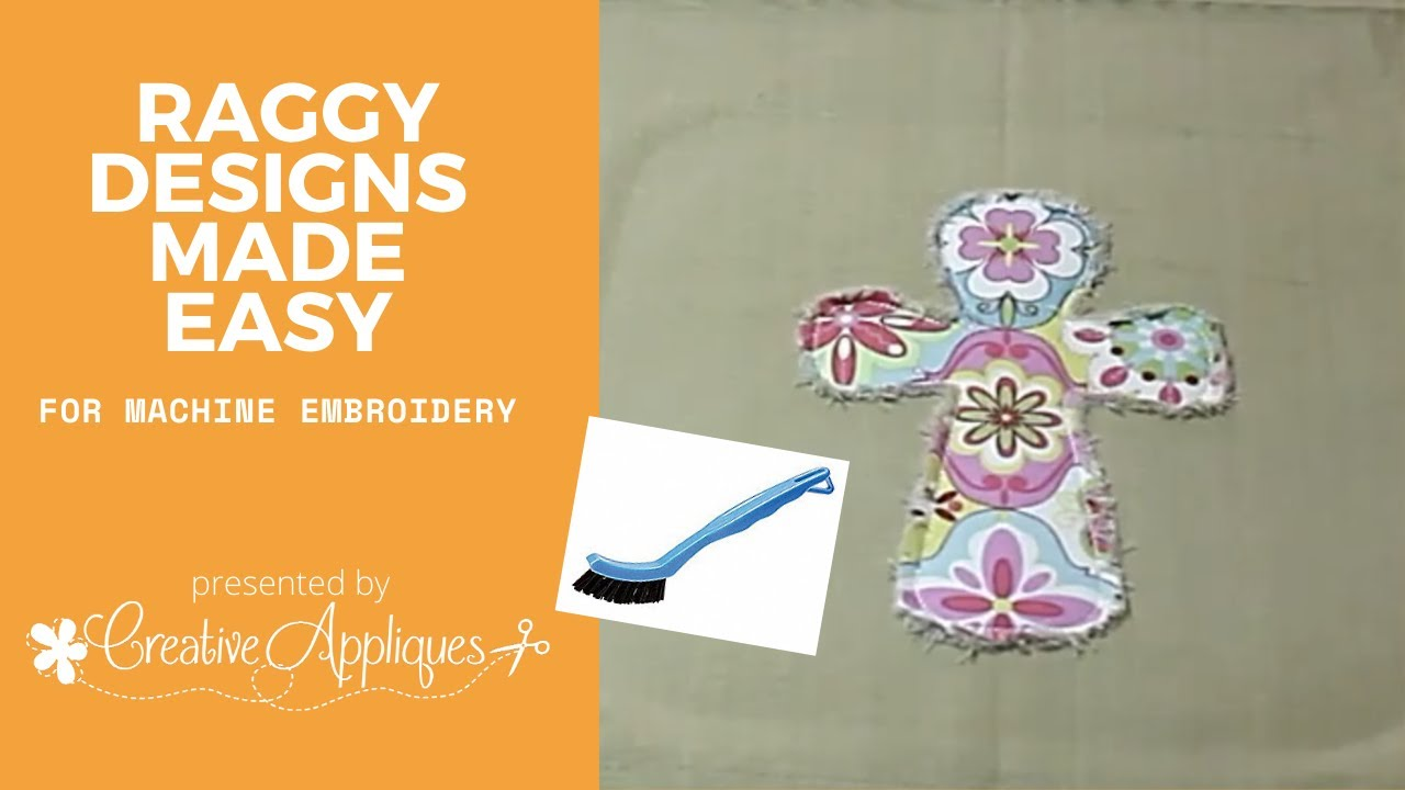 Embroidery Hack: Creative Appliques How To Make A Raggy Design Using  Machine Embroidery Applique