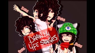 DRAW MY LIFE STAGES ☢ Inasane ☢