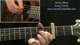 How To Play James Taylor Sunny Skies (intro only)