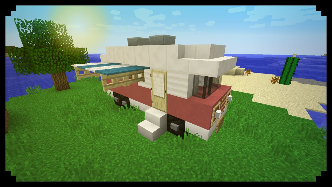 Minecraft How To Make A Camping Van Youtube