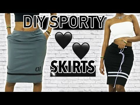 DIY Sporty Skirts from Scratch  ( With Pockets and With Drawstring)