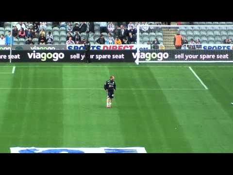 Adam Campbell Video Newcastle United Training Session @ St James Park
