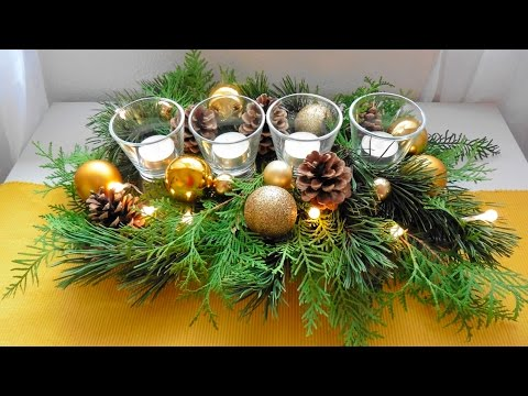 weihnachtsgesteck low budget by lucky beetle youtube. Black Bedroom Furniture Sets. Home Design Ideas