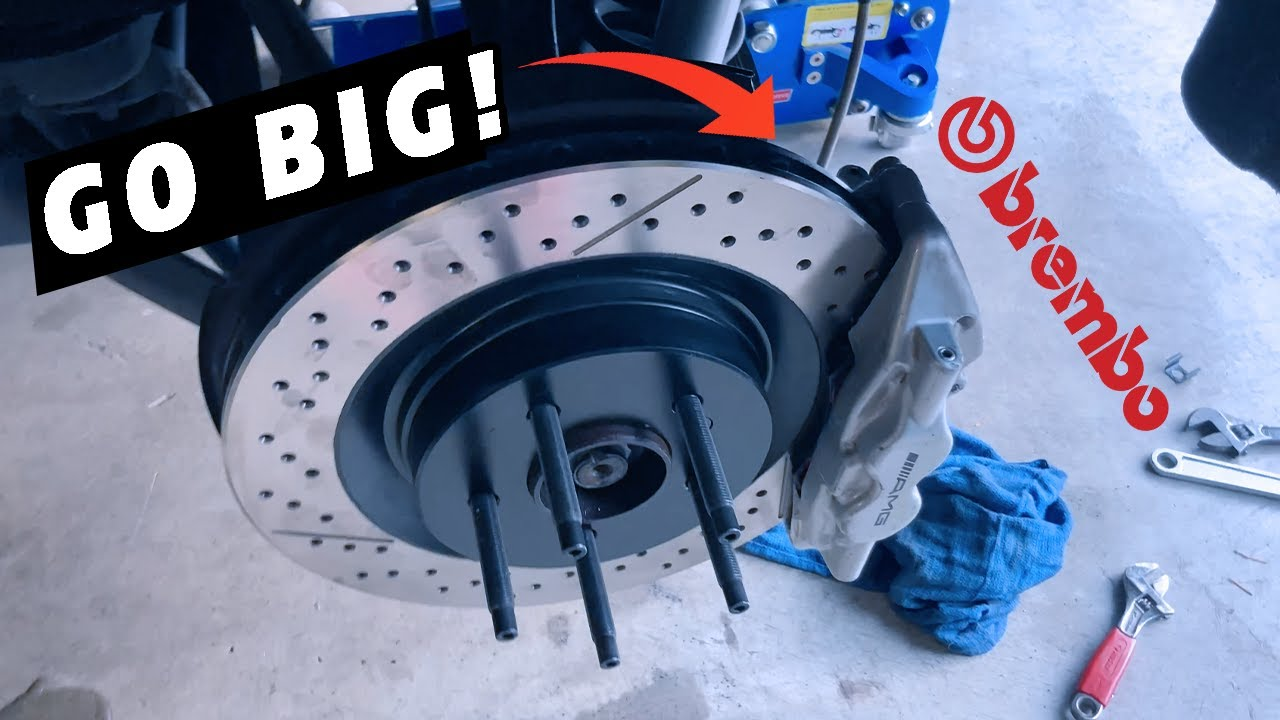 Download C55 AMG Gets Big Brake Kit for Rears - Factory Brembo Calipers