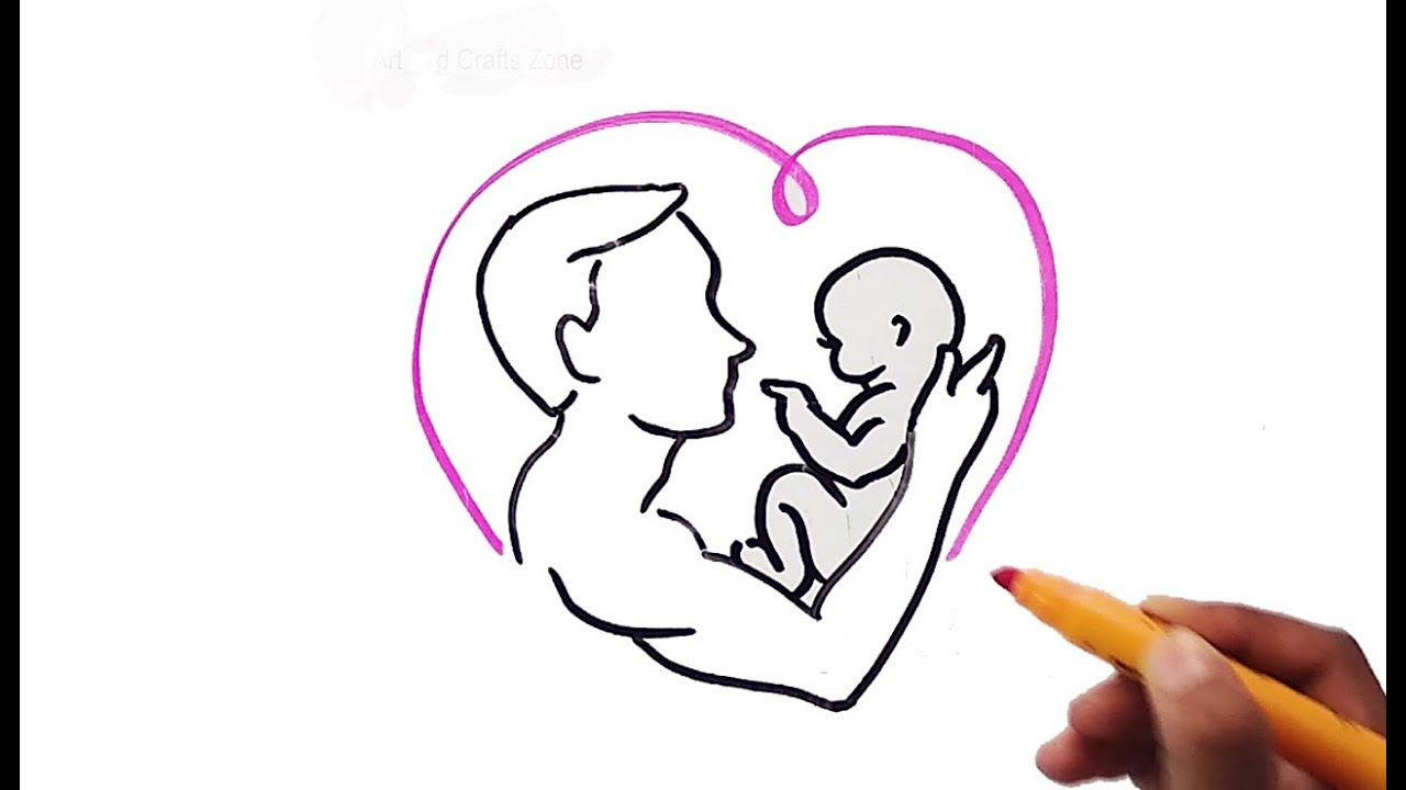5 Simple Drawing On Fathers Day Fathers Day Drawing Ideas Happy Fathers Day