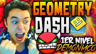 Geometry Dash! MI PRIMER NIVEL DEMONIACO OMG!! #23 - TheGrefg