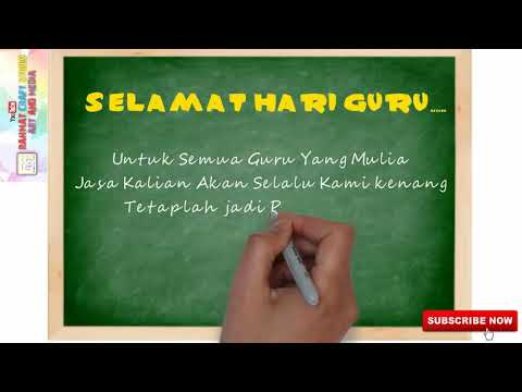 Ucapan Selamat Hari Guru Nasional 25 November Youtube
