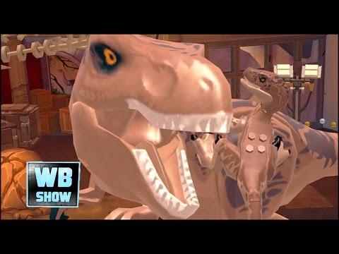 LEGO: Jurassic World Mobile - T-Rex VS Velociraptor Battle + Ending [FULL] [Jurassic Park]