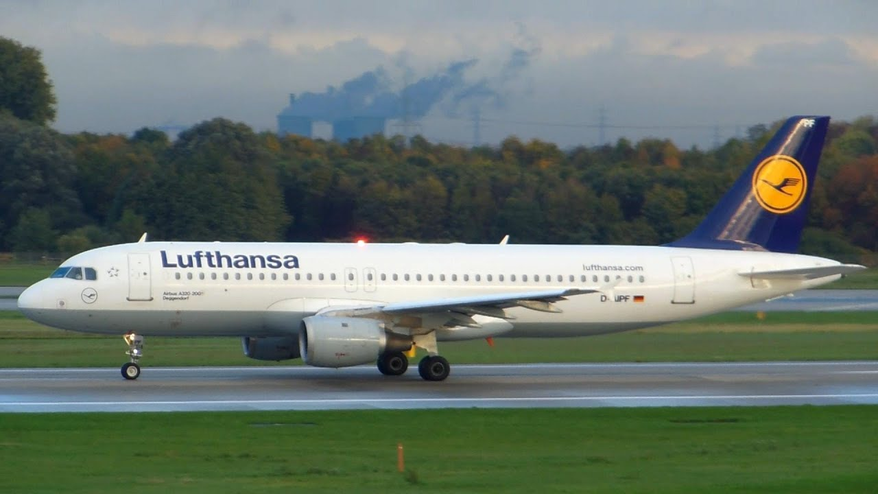 lufthansa airbus a320 200 takeoff d sseldorf airport youtube. Black Bedroom Furniture Sets. Home Design Ideas