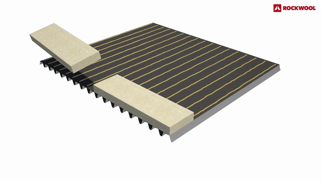 Be plat dak isoleren voor koud verkleefde kunststof dakbedekking